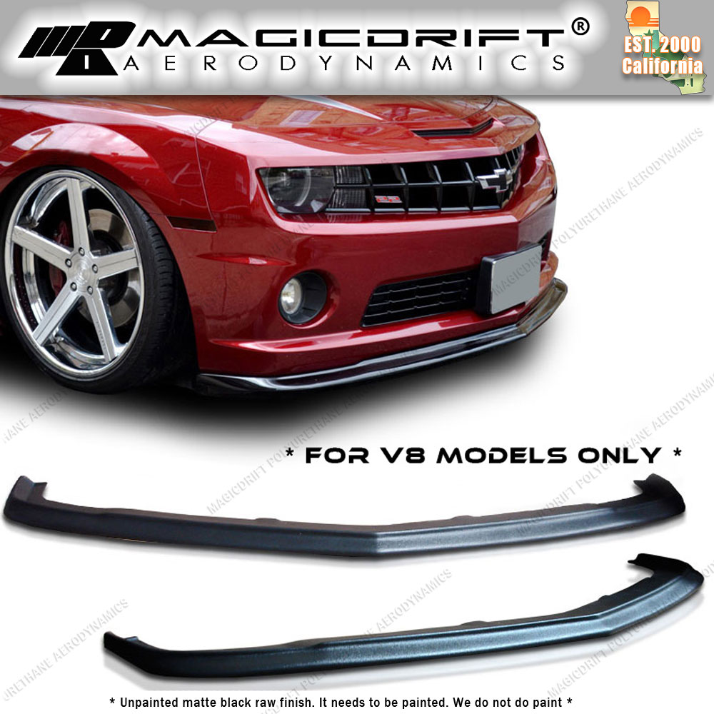 Details about 2010 2011 2013 CHEVY CAMARO V8 SS URETHANE FRONT LIP SPOILER  ZL1 STYLE PU PP SLP