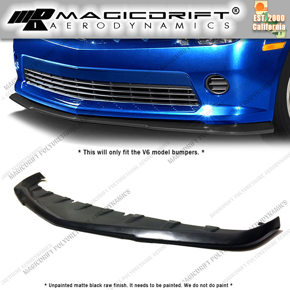 Details about For 14-15 Chevy Camaro V6 LT RS OE GFX Style Front Lip Chin  Splitter Valance