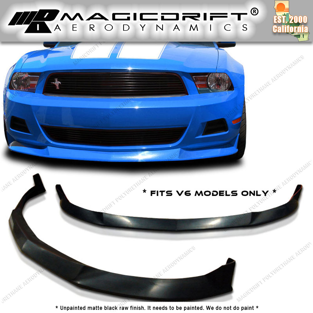 FOR FORD MUSTANG V6 10-12 T-RA STYLE FRONT BUMPER LIP BODY KIT POLYURETHANE PU