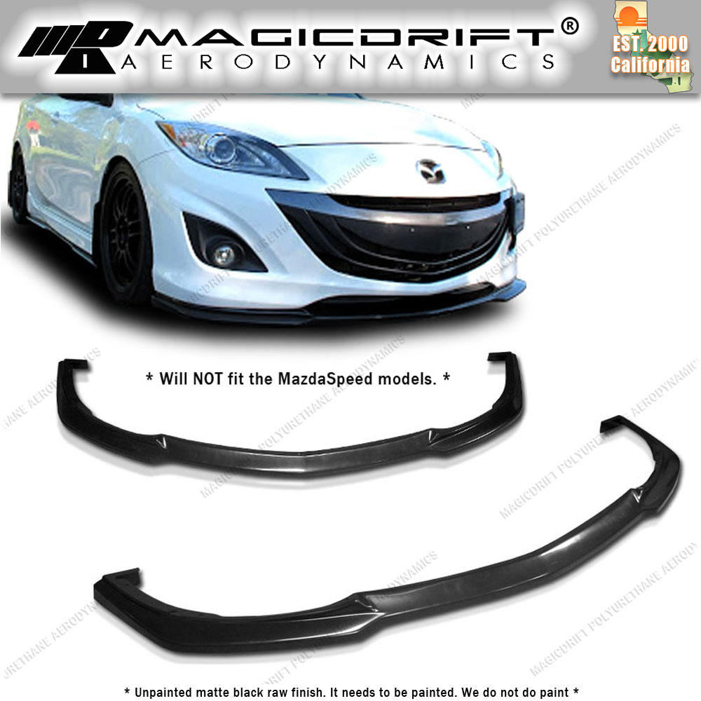 mazda 3  2014 2015 2016  front Front Bumper Lip  Body Kit painted