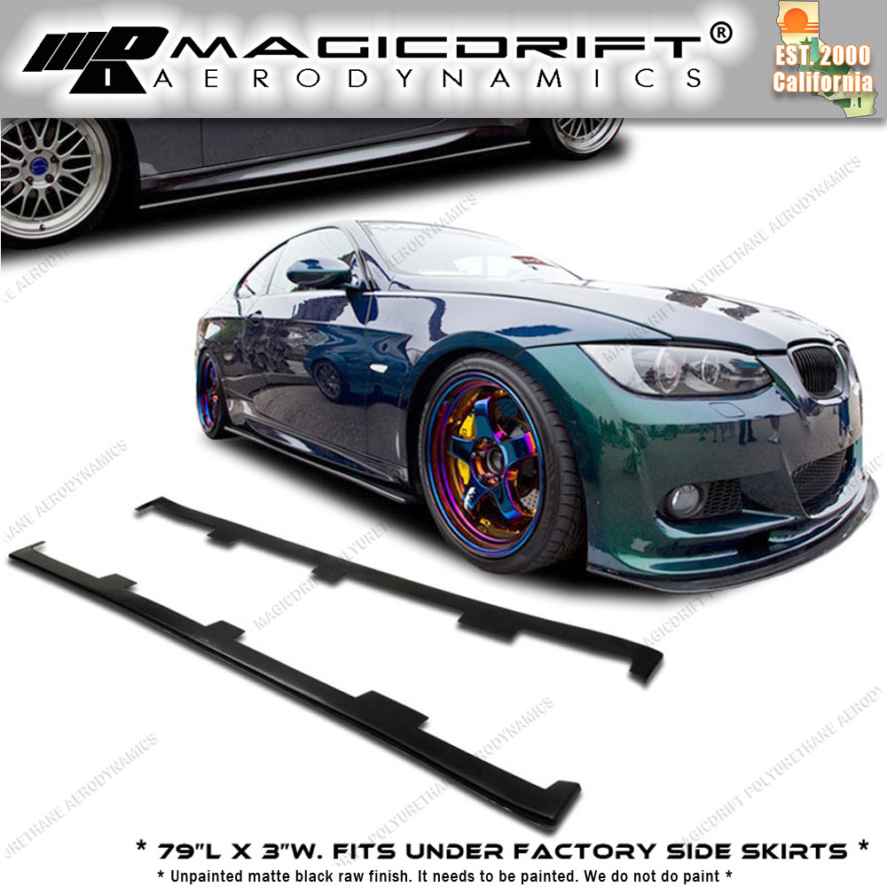 Details About For Bmw E46 M3 Df Dtm Urethane Side Skirts Diffusers Lips Extensions Splitters