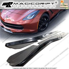 14-19 Chevy Corvette C7 Z06 Grand Sport Style Side Skirt Rocker Panel Extension Lips