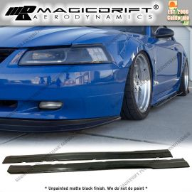 99-04 Ford Mustang MDA Style Side Skirt Rocker Panel Extension Lips (Pair)