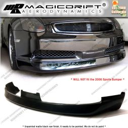03-05 Infiniti G35 2DR Coupe ING Style Front Bumper Chin Spoiler Lip