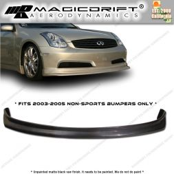 03-05 Infiniti G35 2DR Coupe N1 Style Front Bumper Chin Spoiler Lip