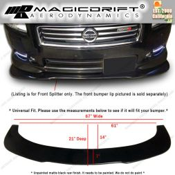 G37 FRONT BUMPER LIP FLAT UNDER PANEL SPLITTER DIFFUSER WIND BLADE