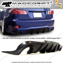 06-13 Lexus IS250/IS350 FS Style Rear Bumper Lip