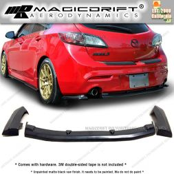 10-13 Mazda 3 5DR Hatchback ( DUAL EXHAUST ONLY) MS Style Rear Bumper Lip