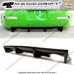 03-09 Nissan 350Z MDA Style Rear Bumper Center Lower 4-Fin Diffuser
