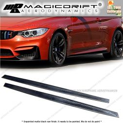 15-19 BMW F82 F83 M4 - MT Style Side Skirt Extension Lip Kit (Pair)