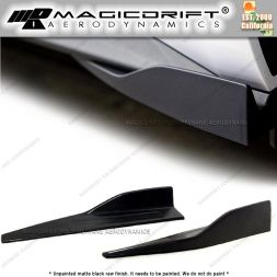 Universal Fit (measure your car) Black Side Skirt Rocker Splitters Winglet Wings