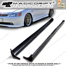 01-05 Honda Civic 2Dr Coupe / 4Dr Sedan RS Style Side Skirts Kit