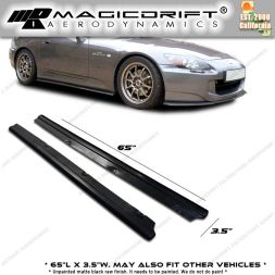 Universal Fit 65 x 3.5 UNIVERSAL DF STYLE SIDE SKIRTS STEP EXTENSION LIP SPLITTERS