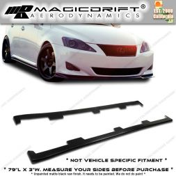 """Universal fit 79"""" x 3"""" BMW E90 3-Series UL Style Flat Side Skirts Extensions"""