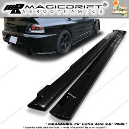 01-07 Mitsubishi EVO 7 8 9 Optional Add-On OE Style Side Skirts Extensions Extension