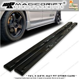 10-12 Mazdas3 4/5 DOORS MS Style Side Skirts Extensions