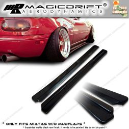 90-97 Mazda NA Miata FD Style Side Skirt Rocker Panel Extension Lips (Pair)