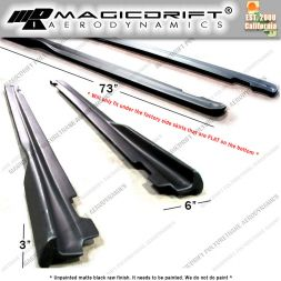 "Universal Fit 73"" x 6"" Universal Fit JDM GR RB Style Side Rocker Skirts Extensions Lip Winglet"